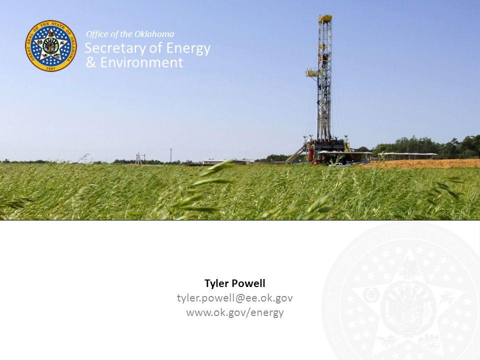 Secretary of Energy & Environment Tyler Powell tyler.powell@ee.ok.gov