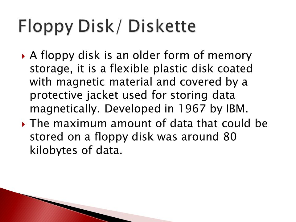 Floppy Disk/ Diskette