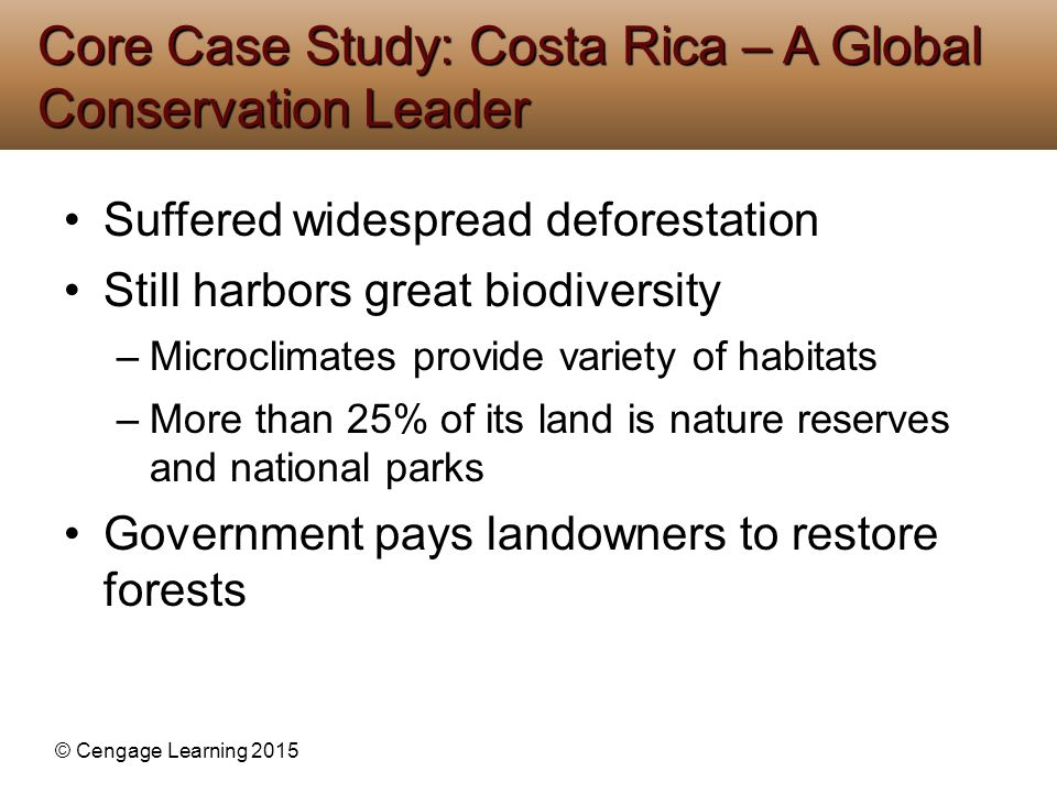 Core Case Study: Costa Rica – A Global Conservation Leader