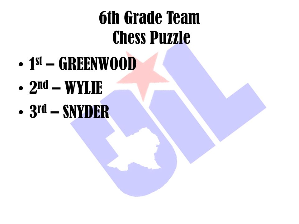6th Grade Team Chess Puzzle