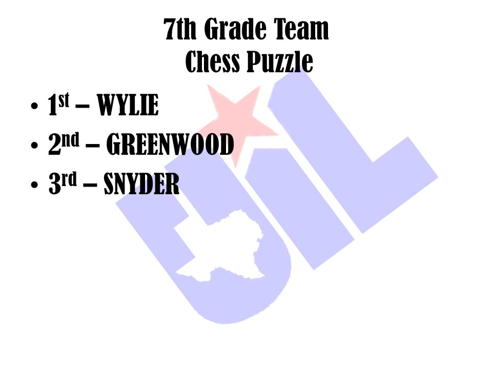 7th Grade Team Chess Puzzle