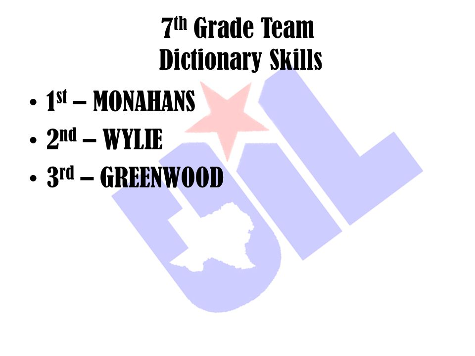 7th Grade Team Dictionary Skills