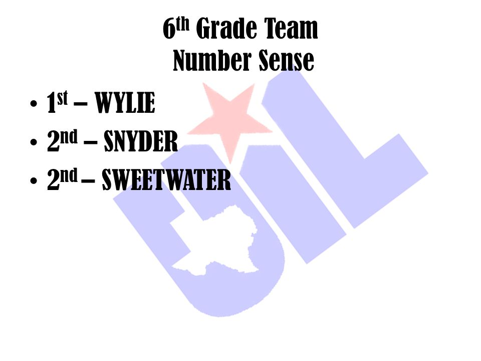 6th Grade Team Number Sense