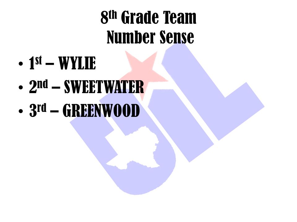 8th Grade Team Number Sense