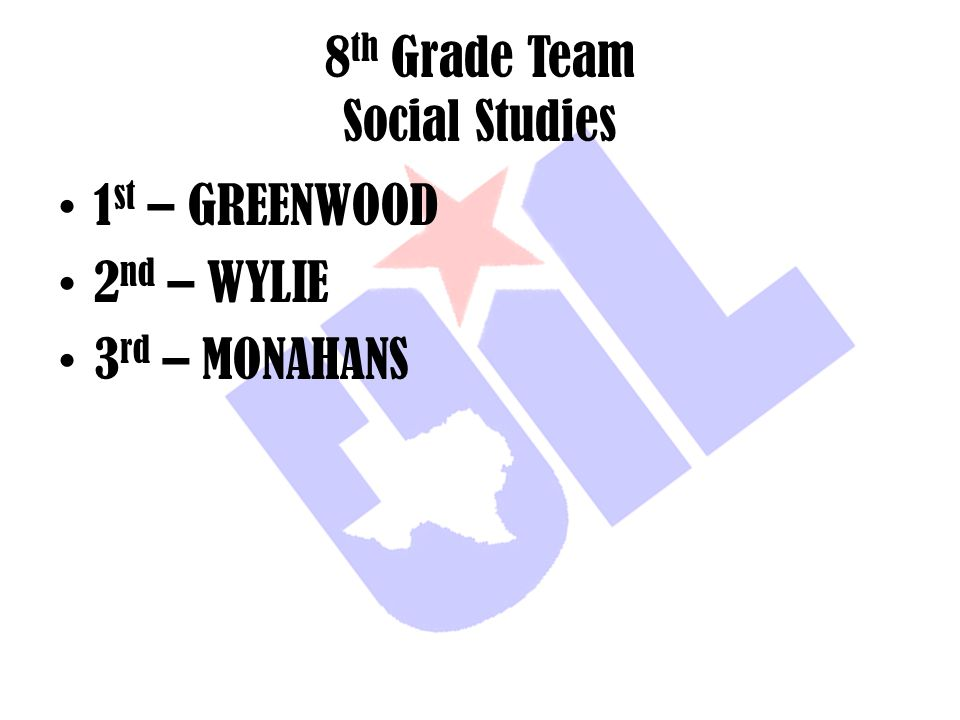 8th Grade Team Social Studies