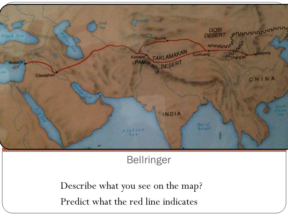 Bellringer Describe what you see on the map Predict what the red line indicates