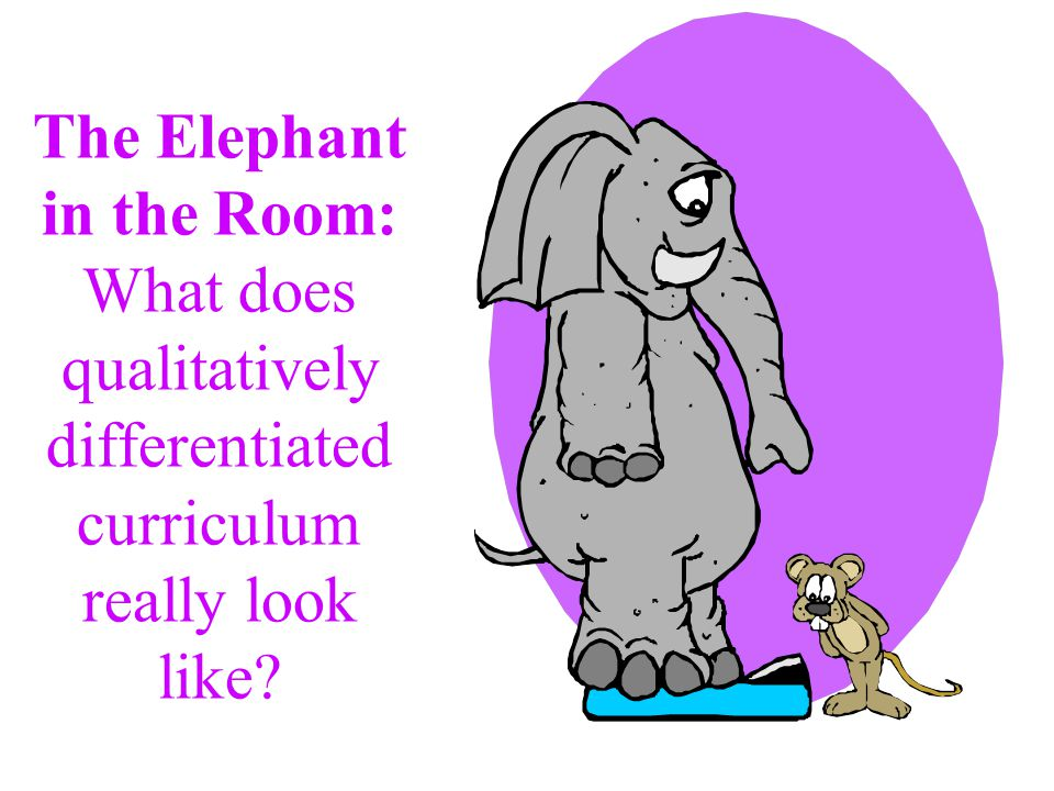 The Elephant in the Room: What does qualitatively differentiated curriculum really look like