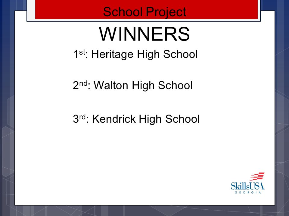 WINNERS School Project 1st: Heritage High School