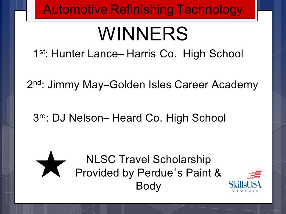 WINNERS Automotive Refinishing Technology