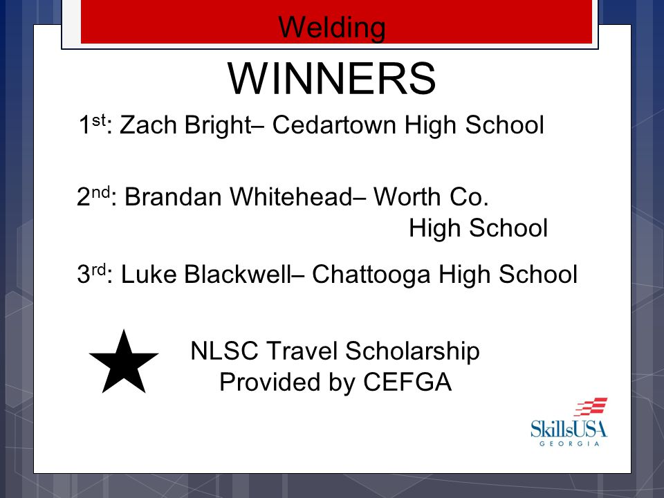 NLSC Travel Scholarship Provided by CEFGA