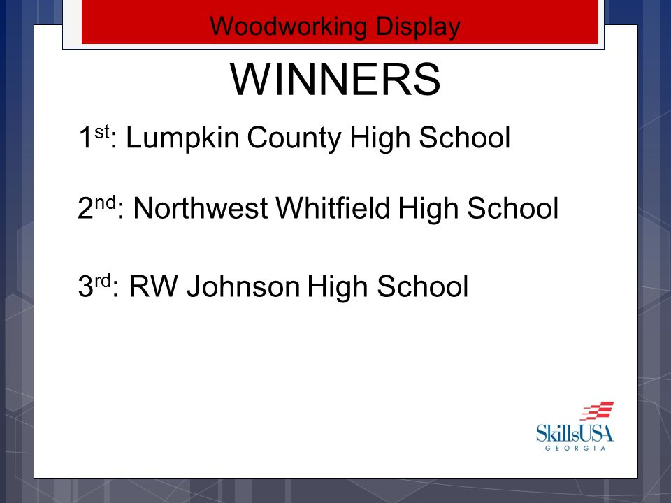 WINNERS 1st: Lumpkin County High School