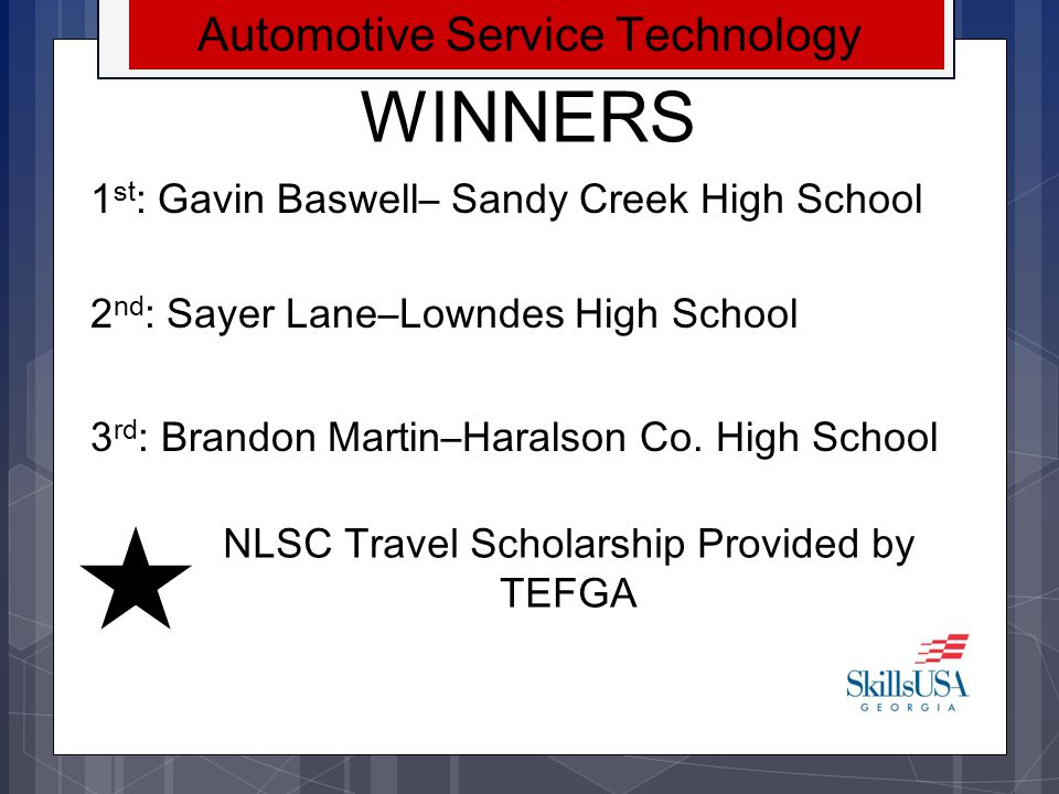 WINNERS Automotive Service Technology