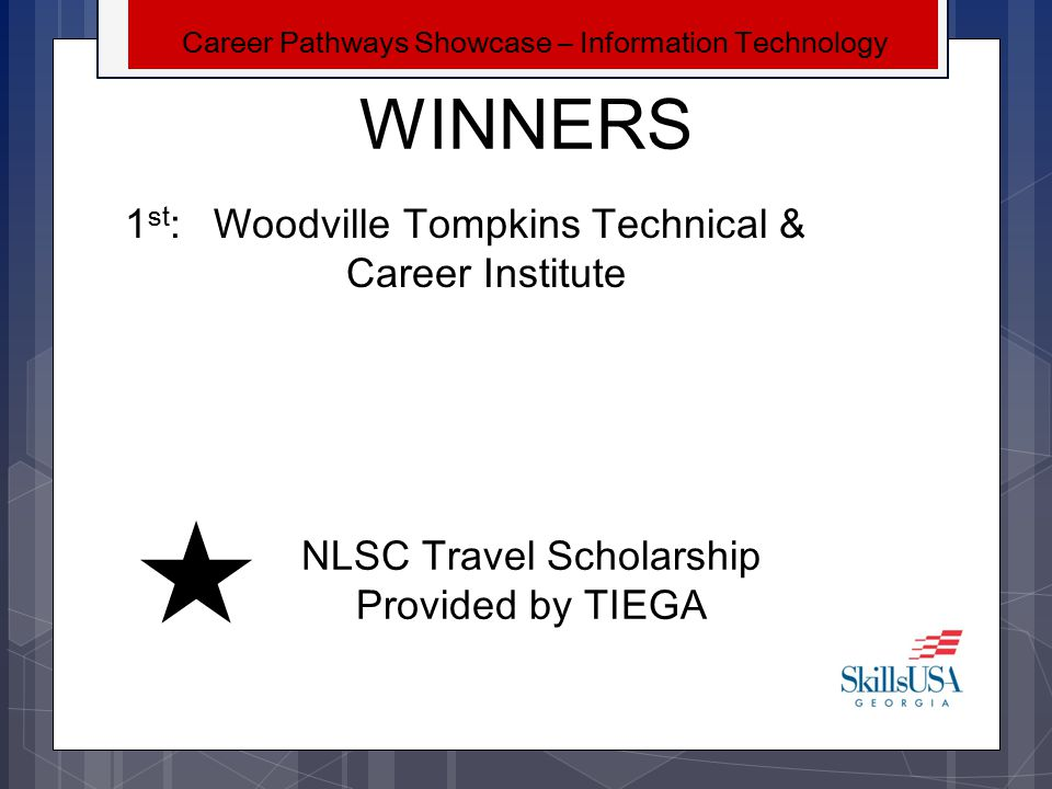 WINNERS 1st: Woodville Tompkins Technical & Career Institute