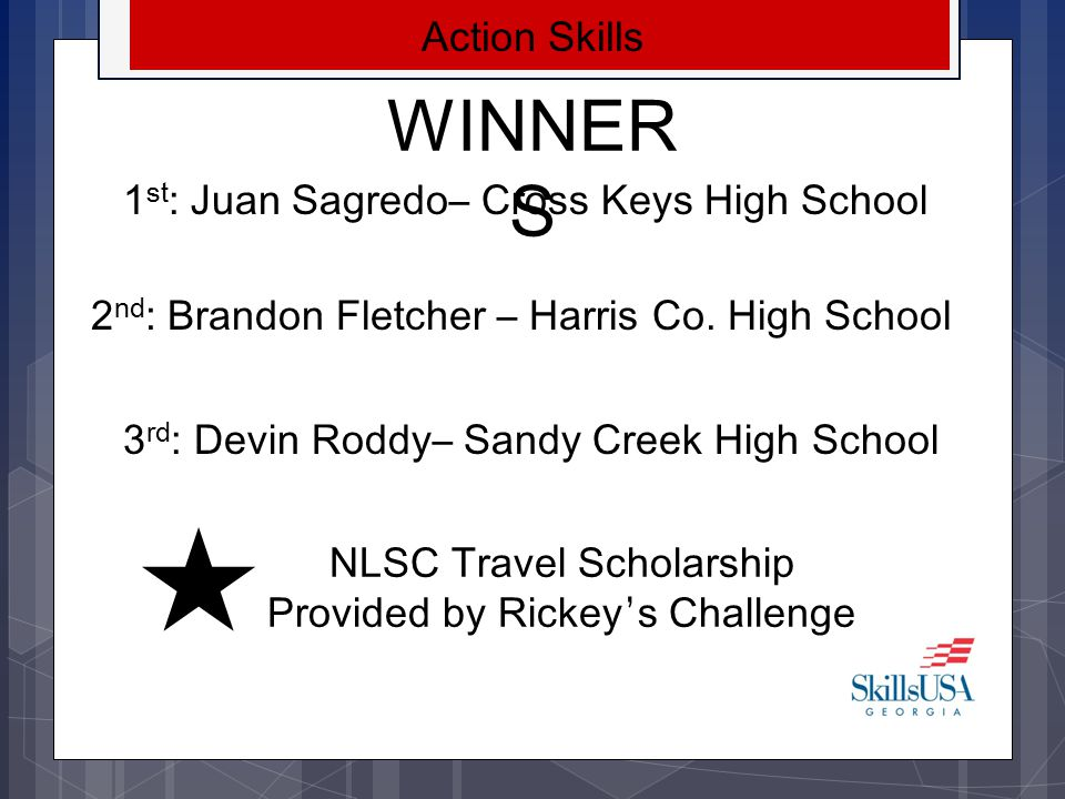 NLSC Travel Scholarship Provided by Rickey's Challenge
