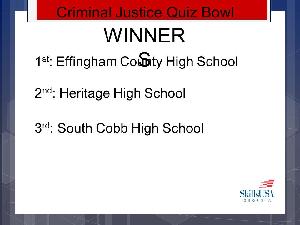 Criminal Justice Quiz Bowl