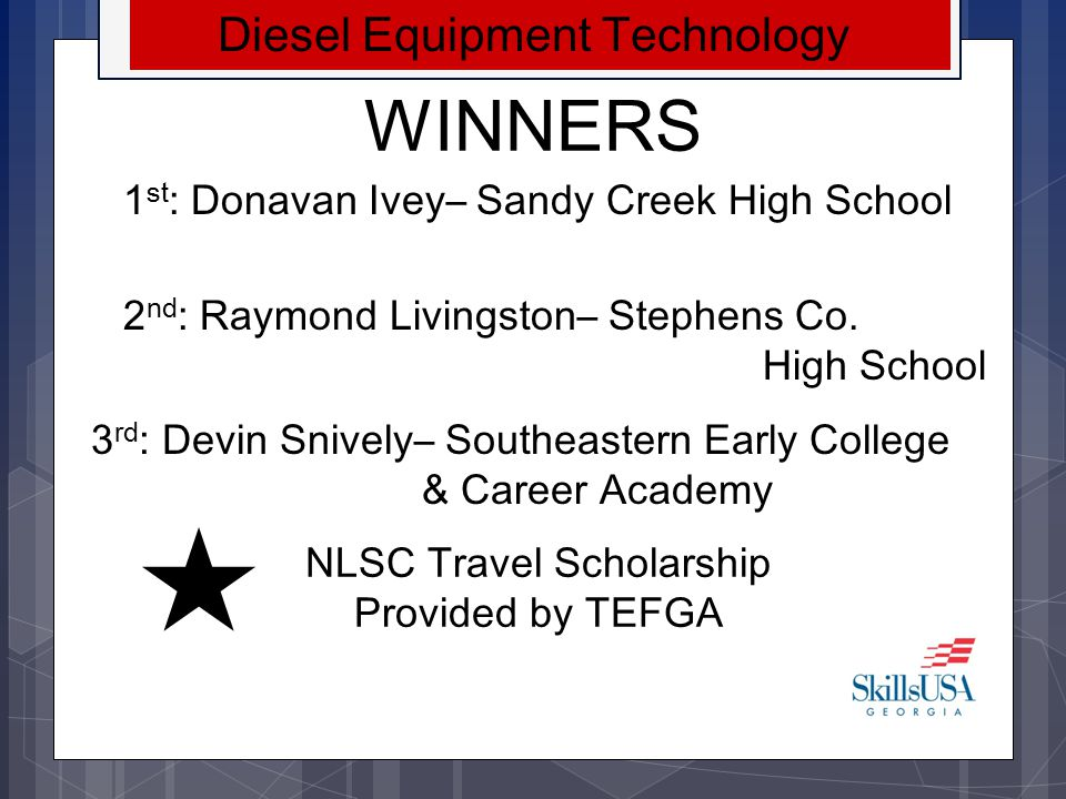 WINNERS Diesel Equipment Technology