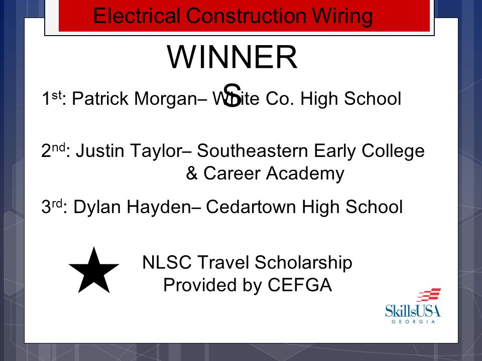 WINNERS Electrical Construction Wiring