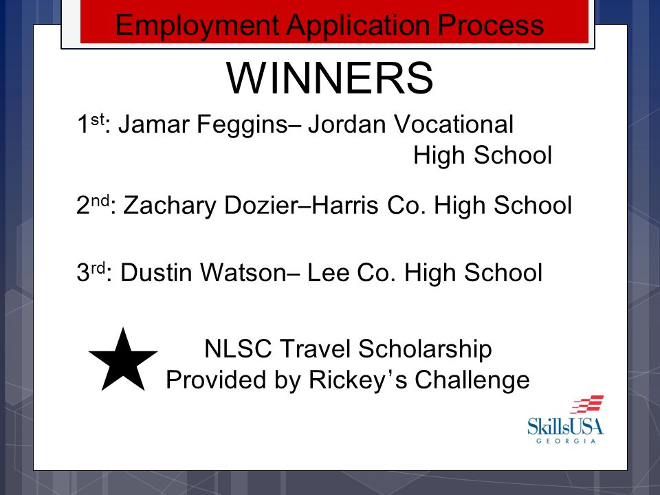 WINNERS Employment Application Process