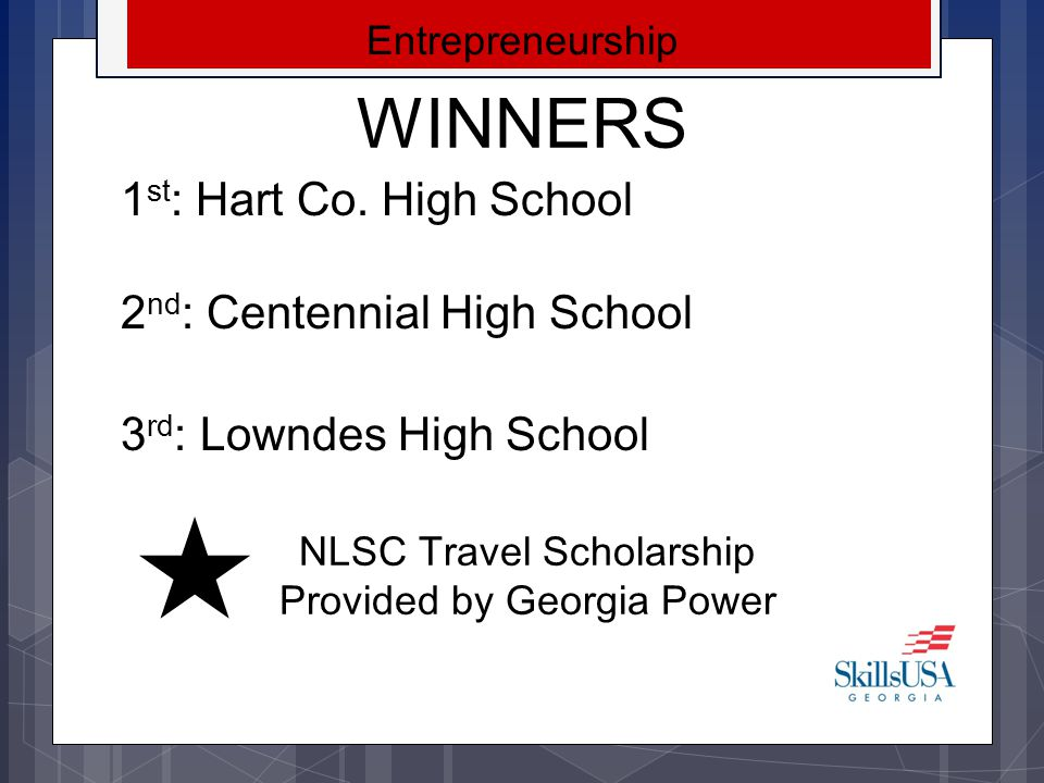 NLSC Travel Scholarship Provided by Georgia Power