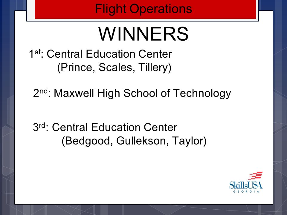 WINNERS Flight Operations 1st: Central Education Center