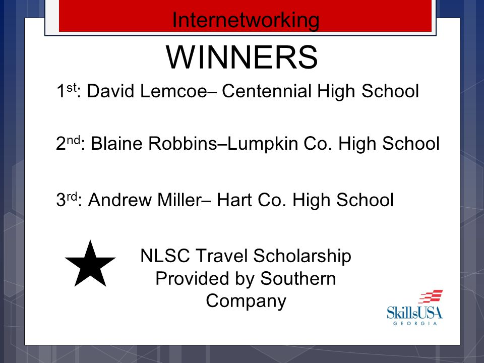 NLSC Travel Scholarship Provided by Southern Company