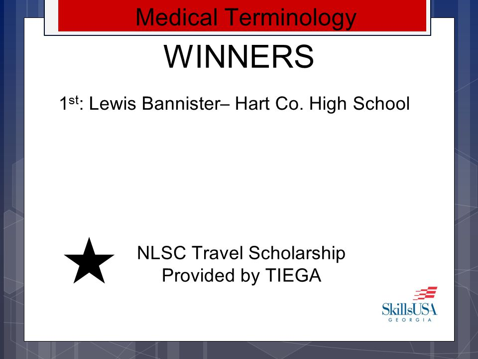 NLSC Travel Scholarship Provided by TIEGA