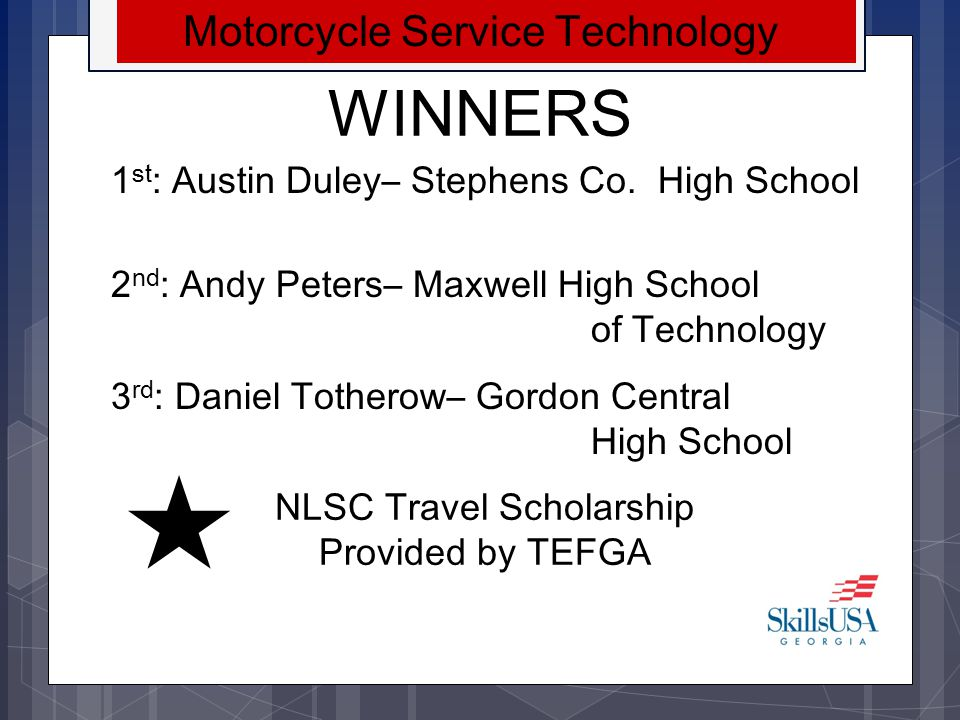 WINNERS Motorcycle Service Technology