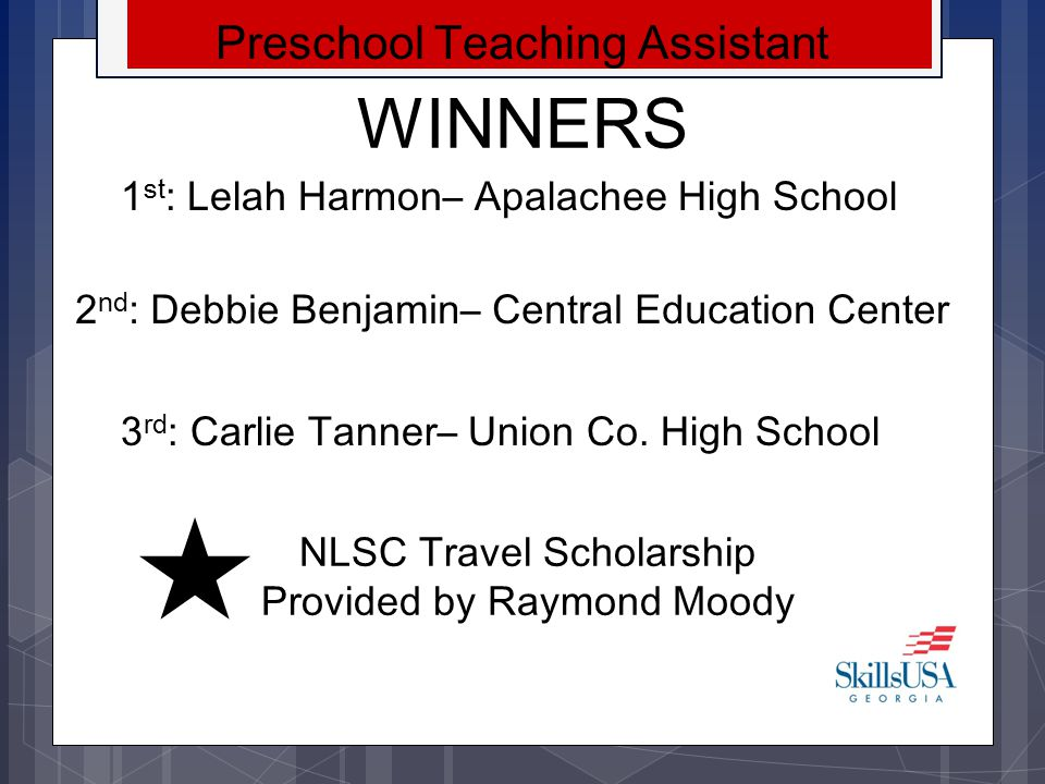 WINNERS Preschool Teaching Assistant