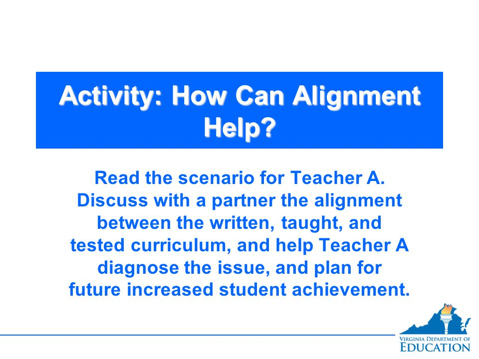 Activity: How Can Alignment Help