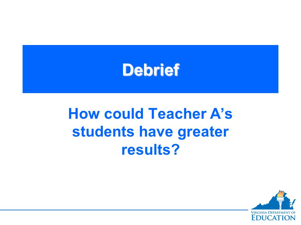 How could Teacher A's students have greater results