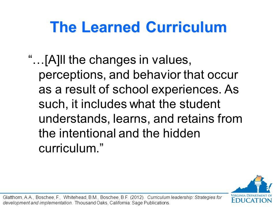 The Learned Curriculum
