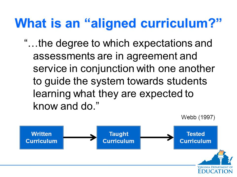 What is an aligned curriculum