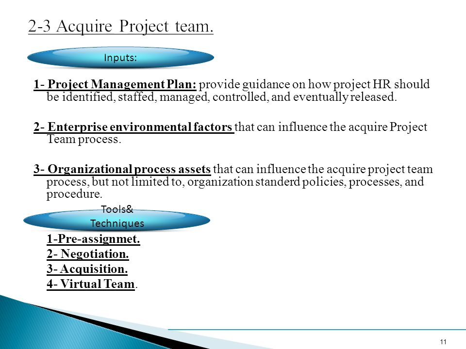 2-3 Acquire Project team.