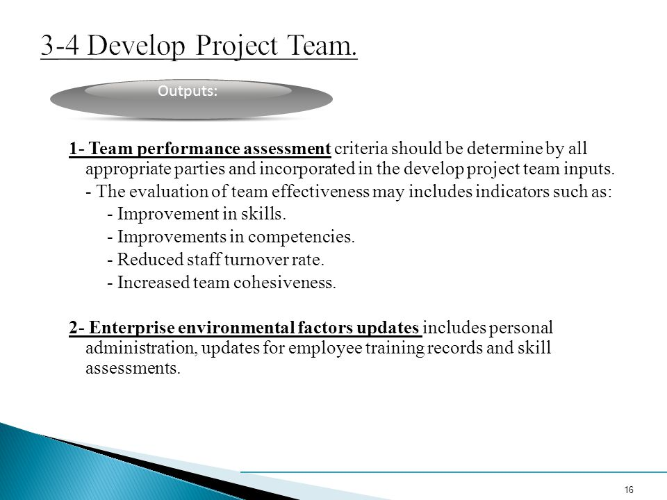 3-4 Develop Project Team.