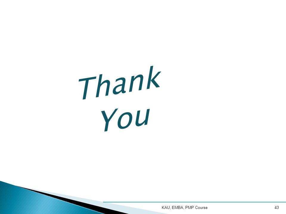 Thank You KAU, EMBA, PMP Course