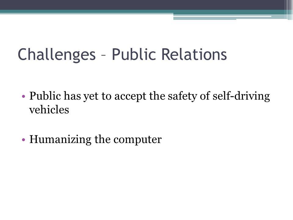 Challenges – Public Relations