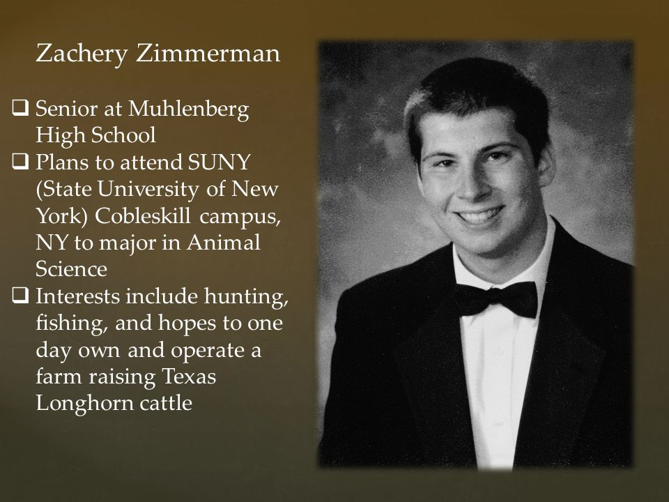Zachery Zimmerman Senior at Muhlenberg High School