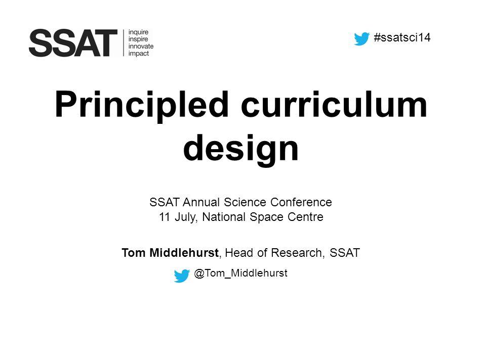 Principled curriculum design