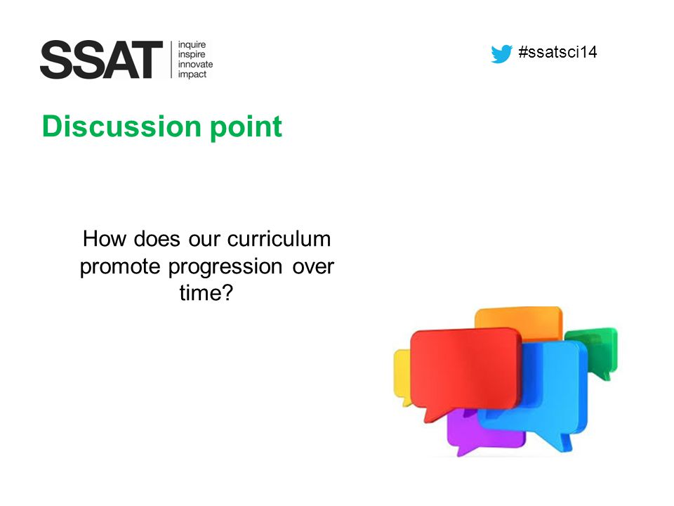 How does our curriculum promote progression over time