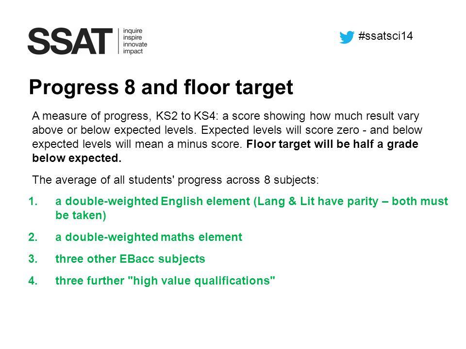 Progress 8 and floor target