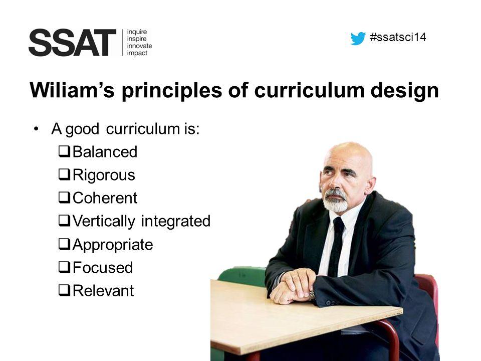 Wiliam's principles of curriculum design