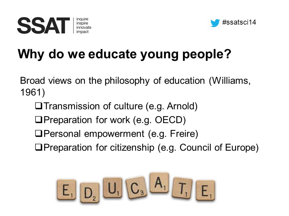 Why do we educate young people
