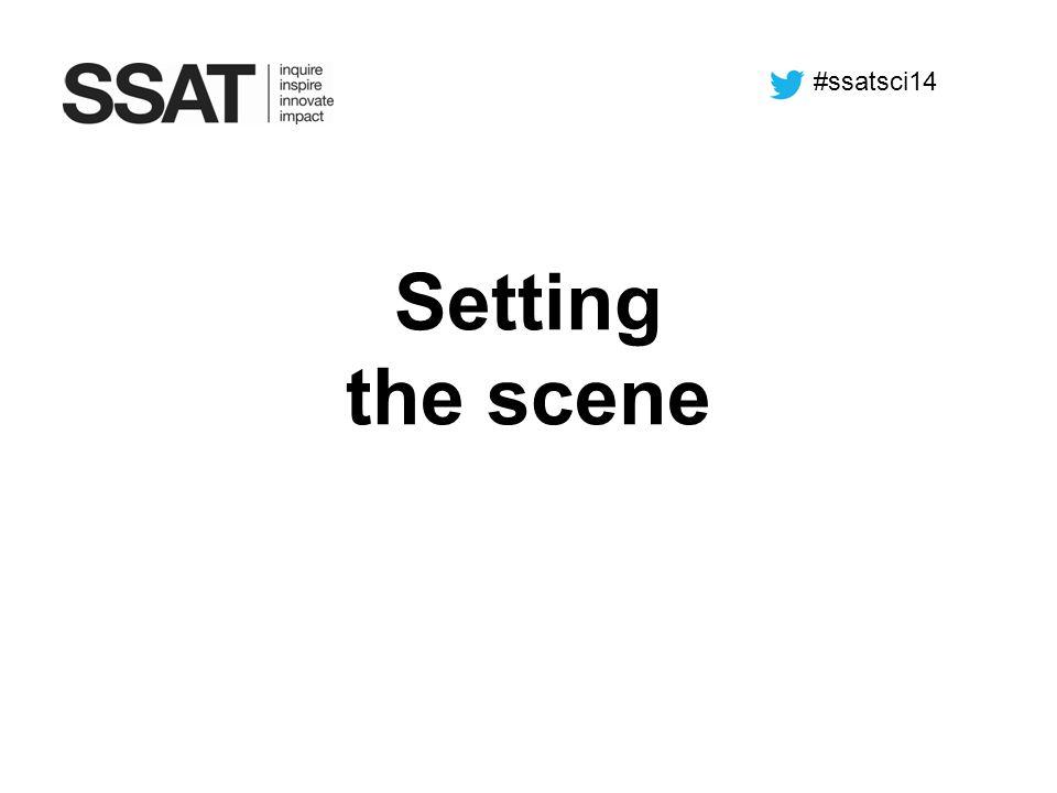 #ssatsci14 Setting the scene