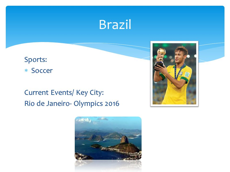 Brazil Sports: Soccer Current Events/ Key City:
