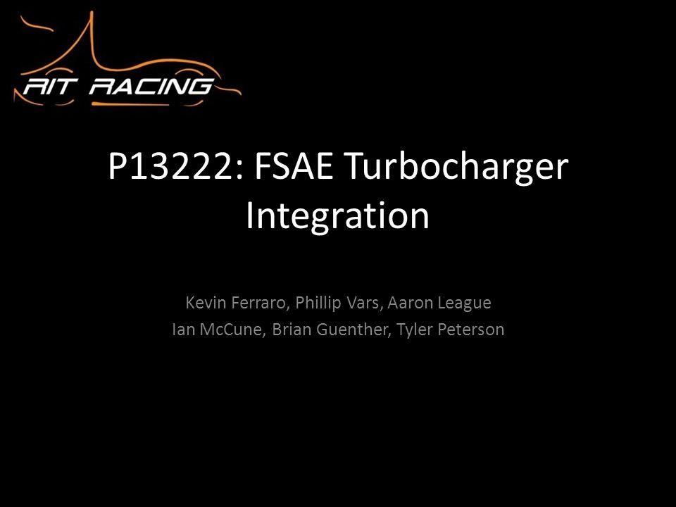 P13222: FSAE Turbocharger Integration