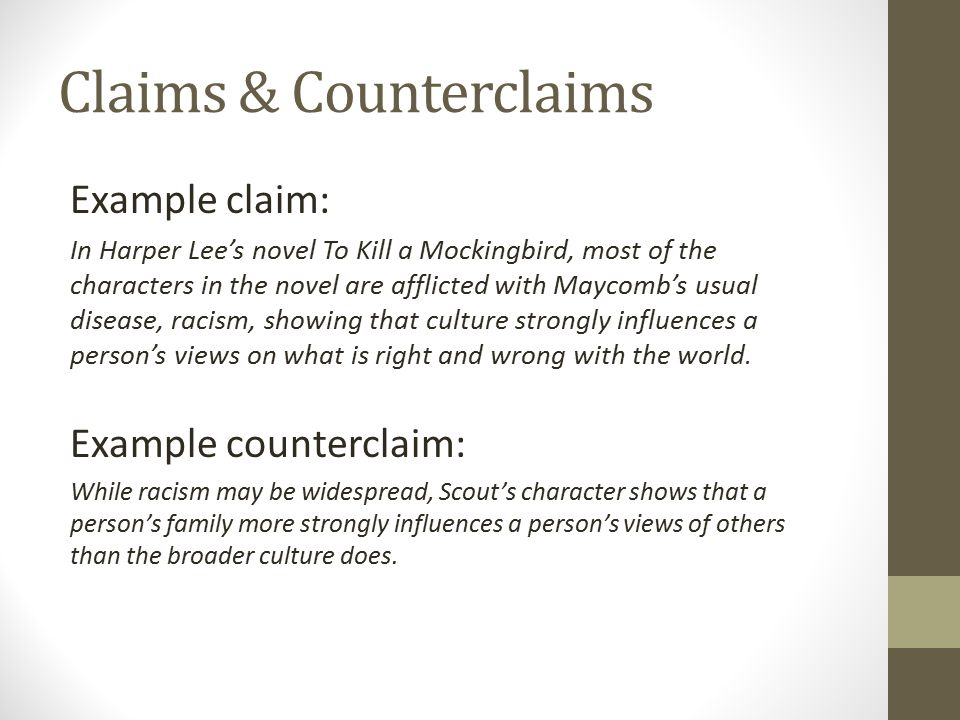 Claims & Counterclaims