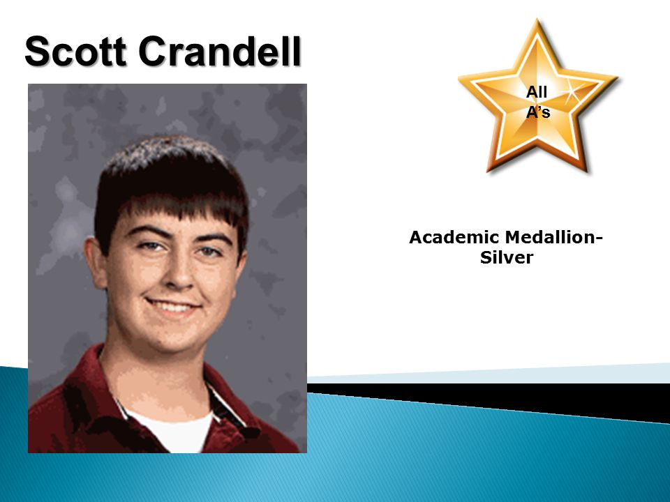 Scott Crandell All A's Academic Medallion- Silver
