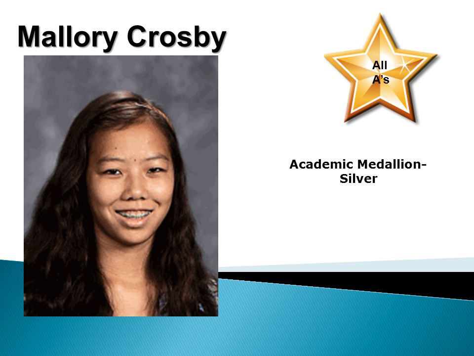 Mallory Crosby All A's Academic Medallion- Silver