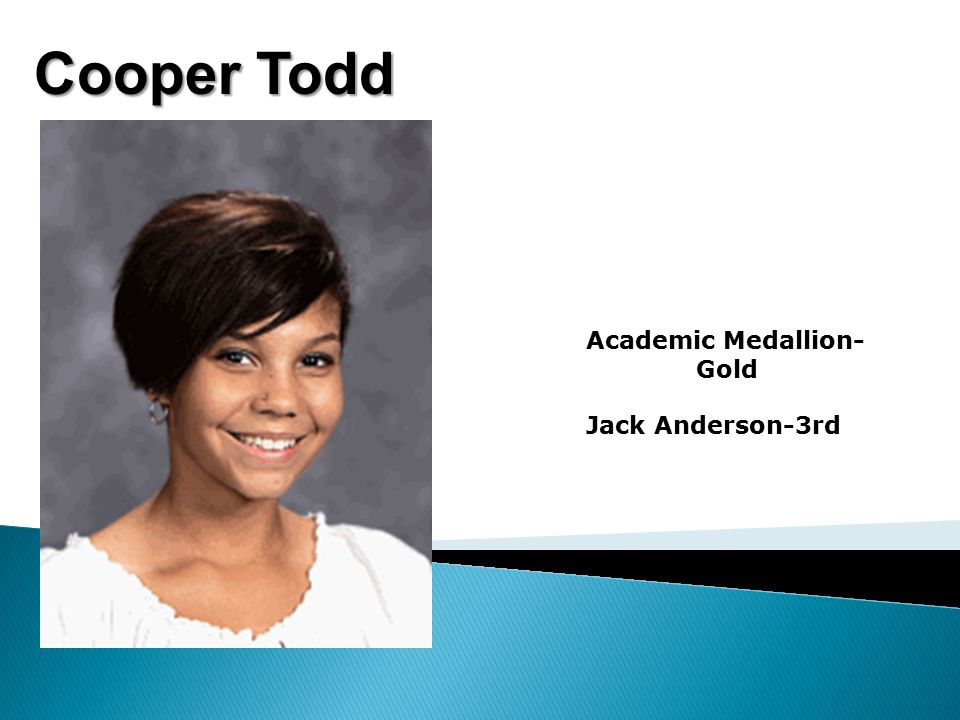 Cooper Todd Academic Medallion- Gold Jack Anderson-3rd