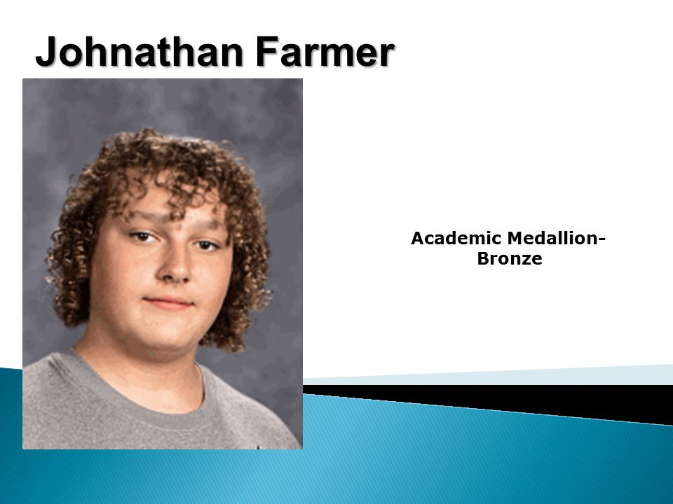 Johnathan Farmer Academic Medallion- Bronze